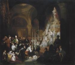 Joaquín Manuel Fernández Cruzado: Misa mayor en una iglesia andaluza, 1840