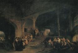 Jenaro Pérez Villaamil: El viático, 1850