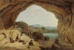 Manuel Barrón: La cueva del Gato, 1860