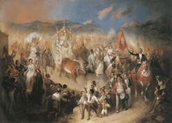 Manuel Rodríguez de Guzmán: Romería del Rocío, ca. 1853