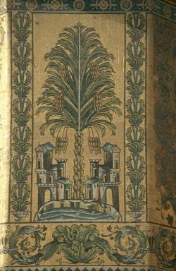 Mezquita de Damasco. El emblema del árbol de la vida