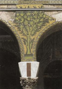 Mezquita de Damasco. El ornamento de teselas