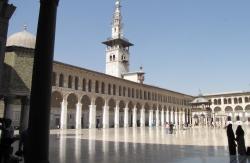 Mezquita de Damasco. El pórtico que da al patio