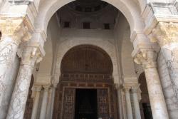 Mezquita de Kairuán. Figura 2: estructura bajo la cúpula