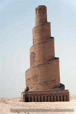 Samarra. Mezquita de Abu Dolaf. Minarete