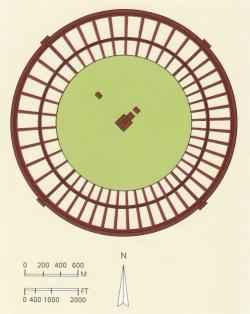 La Ciudad Redonda. Figura 1a: planta