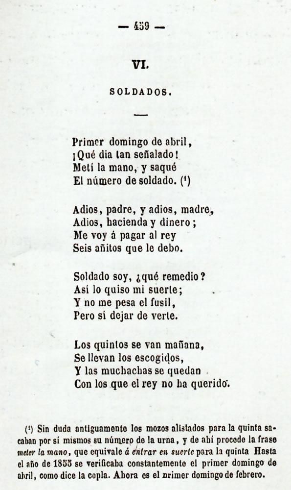 Emilio Lafuente y Alcántara: Cancionero popular.