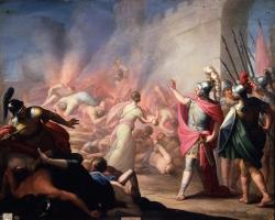 Juan Antonio de Ribera: La destrucción de Numancia