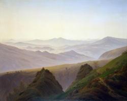 C. D. Friedrich (1774-1840): Amanecer en las montañas (hacia 1823). The State Hermitage Museum