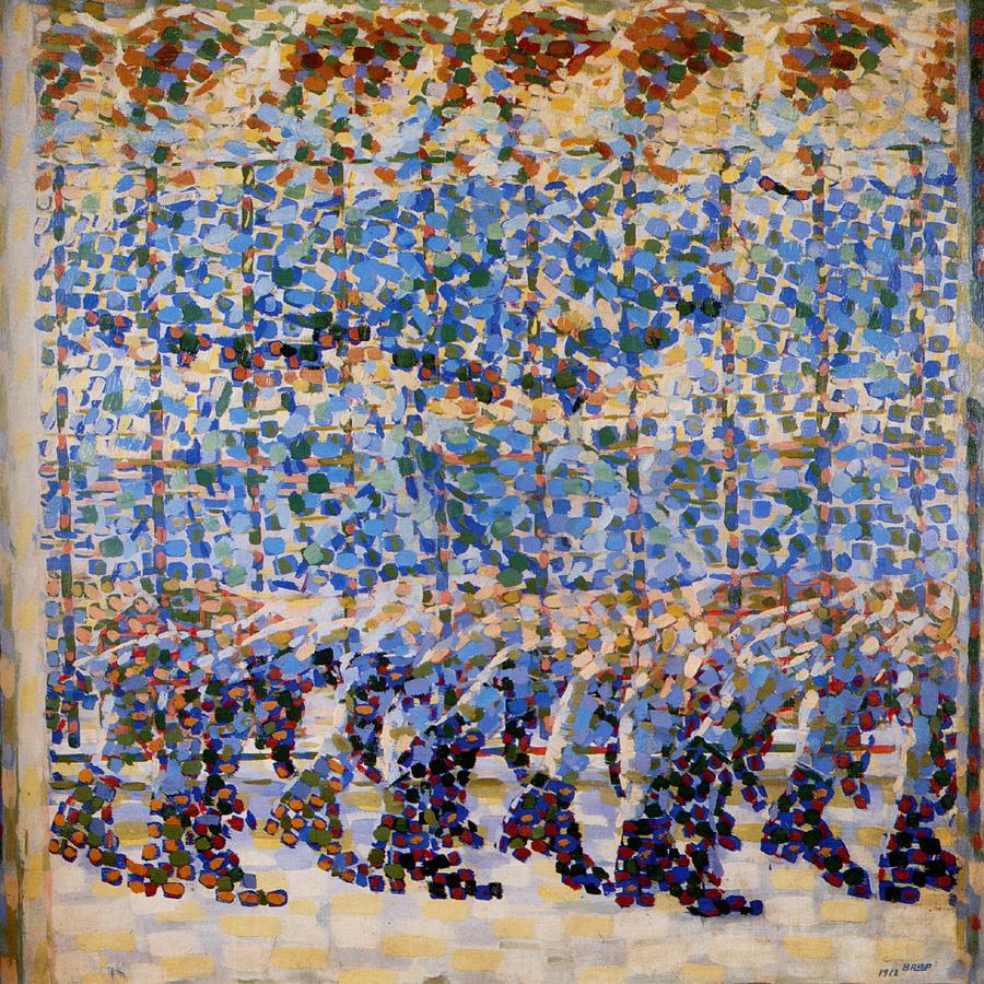 Giacomo Balla (1871-1958): Chica corriendo en el balcón (1912). Milán, Galleria d'Arte Moderna.