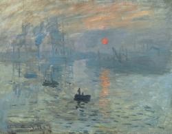Claude Monet: Impression: soleil levant (1872). París, Museo Marmottan.