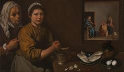 Diego Velázquez: «Cristo en casa de Marta y María» (1619-20). Londres, National Gallery