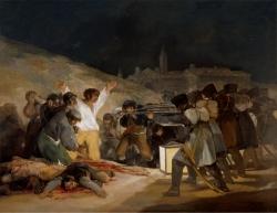 """Goya (1746-1828): El 3 de mayo en Madrid o """"Los fusilamientos"""" (1814). Madrid, Museo del Prado"""