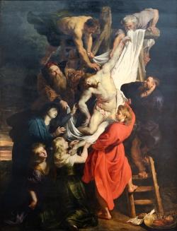 Pedro-Pablo Rubens (1577-1640): El Descendimiento de la Cruz (1610-14). Catedral de Ambres.
