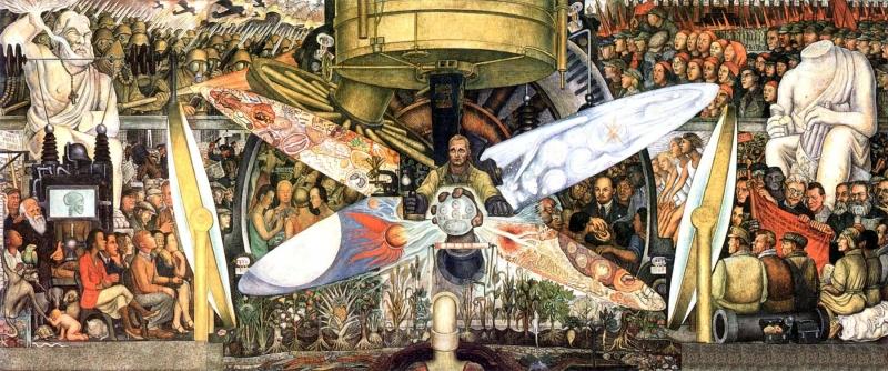 Diego Rivera (1886-1957): El hombre controlador del Universo (1934). México, Palacio de Bellas Artes.