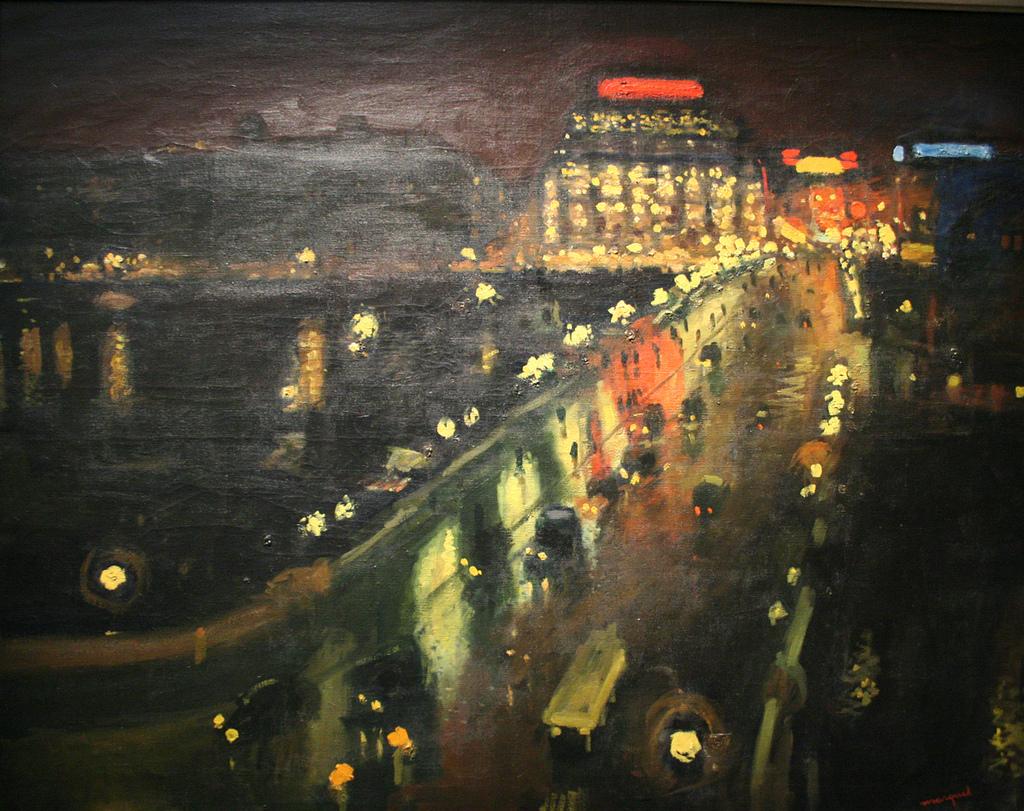Albert Marquet: El Pont-Neuf, de noche. París, Museo de Arte Moderno