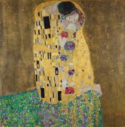 Gustav Klimt (1862-1918): El beso (1907-08). Viena, österreichische Galerie