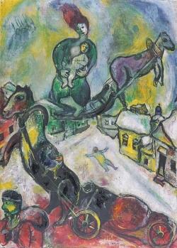 Marc Chagall (1887-1985): La Guerra (1943).París, Centro Georges Pompidou