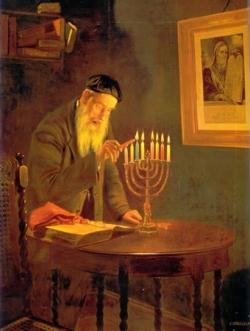 Charles Spencelayh (1865-1958): La última noche de la Hanukkah.Londres, Galería Christie's