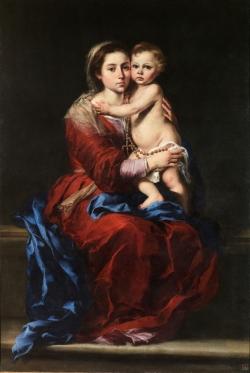 Bartolomé Esteban Murillo (1617-1682): La Virgen del Rosario (1650-55). Madrid, Museo del Prado.