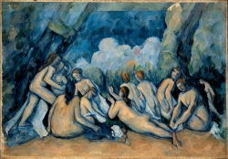 Paul Cézanne (1839-1906): Las grandes bañistas (1900-06). Londres, National Gallery