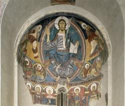 Pantocrátor de Sant Climent de Taüll (XII).. Barcelona, Museo Nacional de Arte de Cataluña
