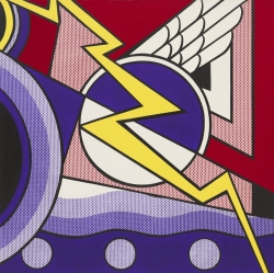 Roy Lichtenstein: Modern Painting with Bolt 1967. Nueva York, Museo de Arte Moderno.