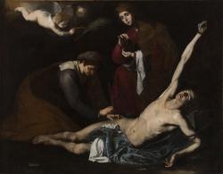 José de Ribera: San Sebastián curado por las santas mujeres (c. 1621). Bilbao, Museo de Bellas Artes