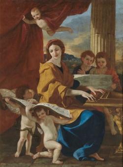 Nicolas Poussin (1594-1665): Santa Cecilia. Hacia 1635. Madrid, Museo del Prado