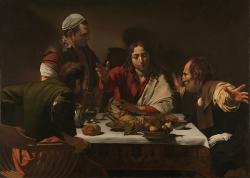 Caravaggio (1571-1610): La Cena de Emmaus (1601). Londres, National Gallery