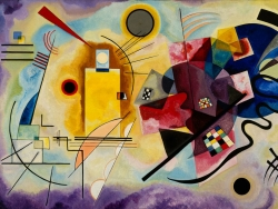 Vassily Kandinsky (1866 - 1944): Gelb-Rot-Blau (Jaune-rouge-bleu). 1925. Centre Pompidou