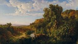Ramón Martí-Alsina: Paisaje de Cataluña. 1860. Óleo sobre lienzo, 101 x 174 cm. Museo del Prado