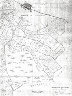 Situación del Municipio según se aprecia en el plano de Dionisio Casañal, 1889