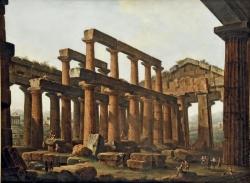 Antonio Joli. El templo de Hera en Paestum
