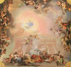 Vicente López Portaña. Boceto para la Alegoría de la institución de la Orden de Carlos III. 1827-1828. Óleo sobre lienzo. Museo Nacional del Prado (Madrid).