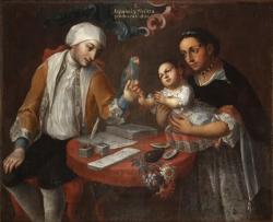 José Joaquín Magón. Castiza. S/a. [Segunda mitad del siglo XVIII]. Virreinato de la Nueva España. Óleo sobre lienzo. Museo Nacional de Antropología (Madrid).