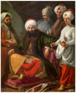Giuseppe Bonito. El embajador turco ante la Corte de Nápoles. 1741. Óleo sobre lienzo. Museo Nacional del Prado (Madrid).