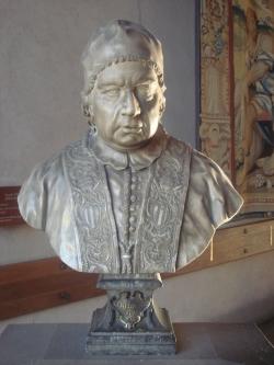 Anónimo. Su Santidad Benedicto XIV. S/a. (Primera mitad del siglo XVIII) Mármol. Raccolte d'Arte Antica, Museo d'Arte´Antica del Castello Sforzesco a Milano (Milán)