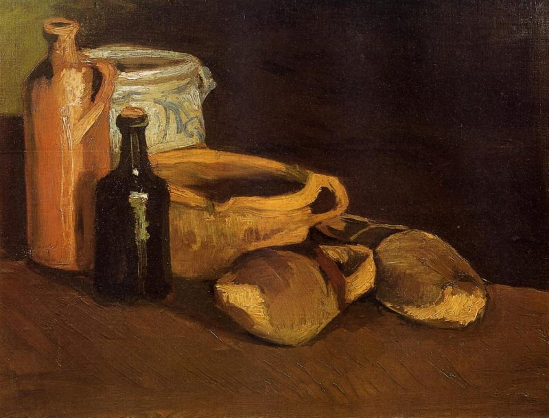 Vicent Van Gogh: Still Life with Clogs and Pots (1884)