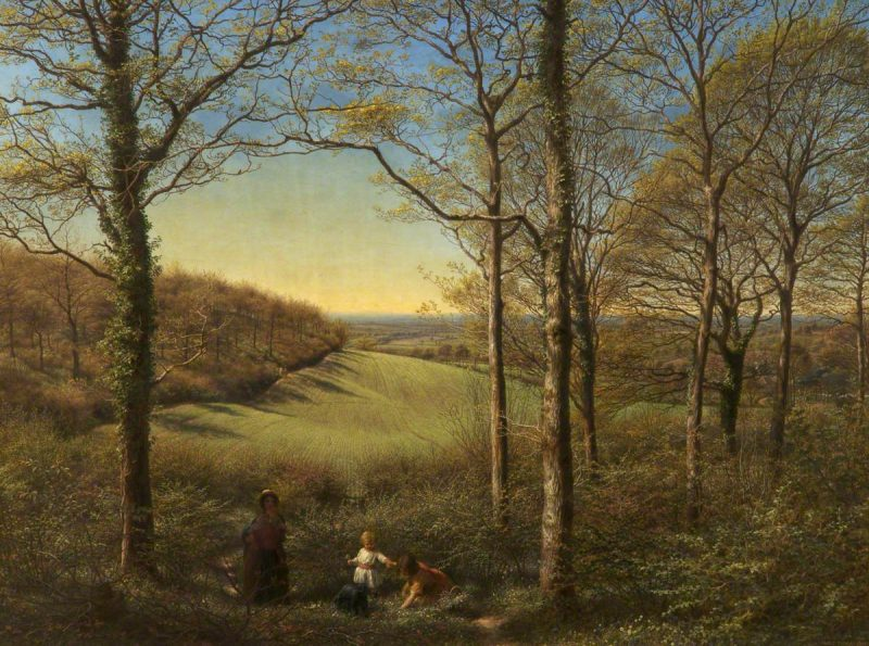 James Thomas Linnell: Springtime (1853). 71.4 x 96.2 cm; oil on canvas. The Whitworth Art Gallery, The University of Manchester.