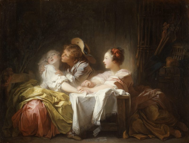 Fragonard, Jean-Honoré. The Lost Forfeit or Captured Kiss, 1759-1761.