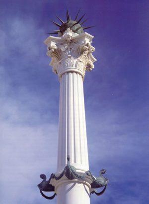 Plazas de España: Almería. Parte superior del monumento levantado en recuerdo de los muertos por la sublevación liberal de 1824.