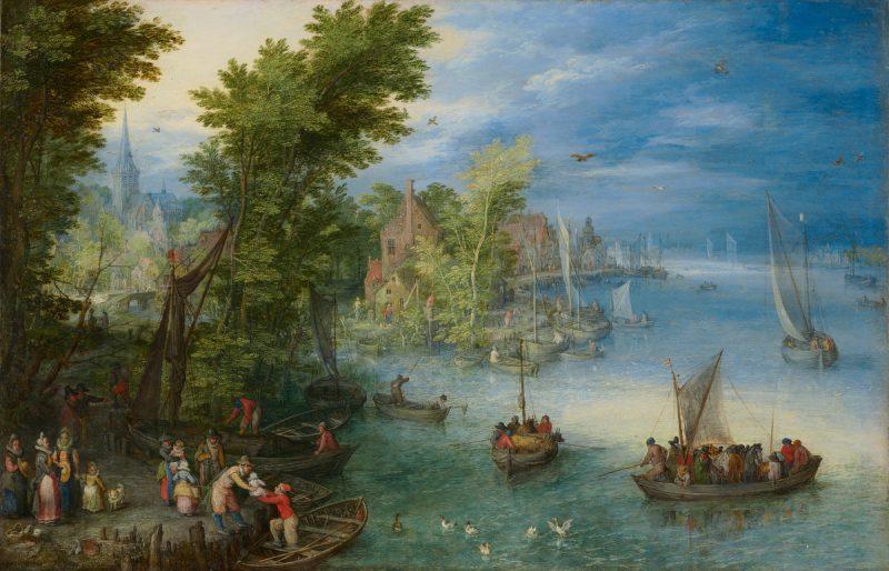 Jan Brueghel the Elder: River Landscape, 1607.