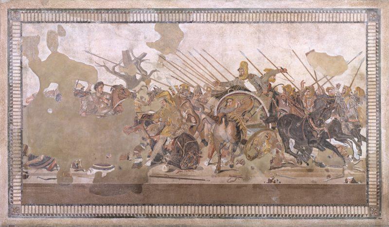 """Mosaico della """"Battaglia di Alessandro"""""""