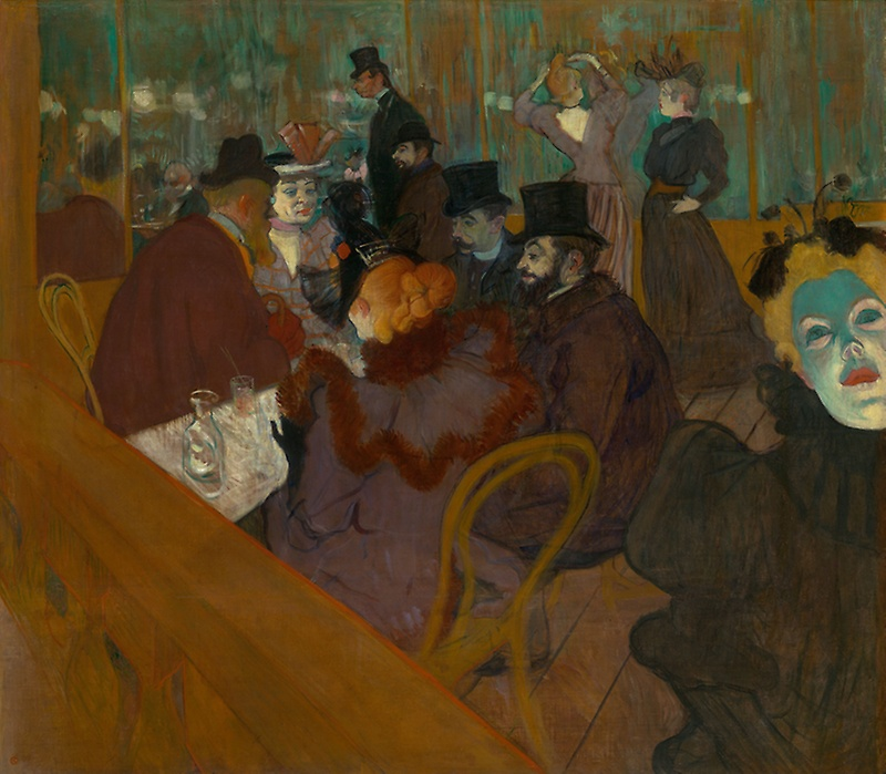 Henri de Toulouse-Lautrec, At the Moulin Rouge, 1892/1895