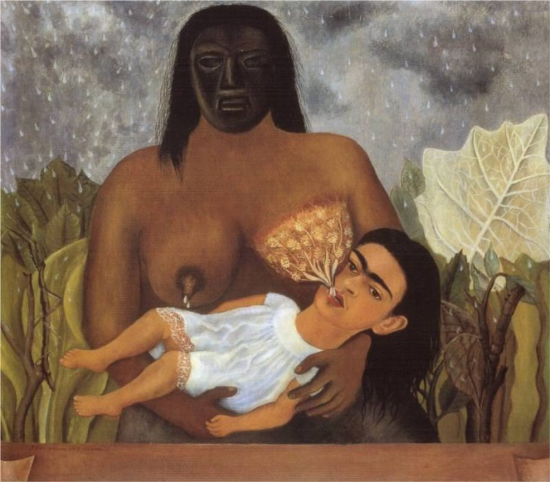 My Nurse and I or Me Suckling, 1937. Oil on metal panel. 305 x 347 mm. Museo Dolores Olmedo Patino Mexico (Mexico City, Mexico)