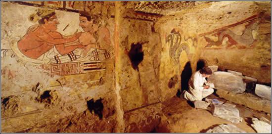 Pinturas etruscas del Más Allá