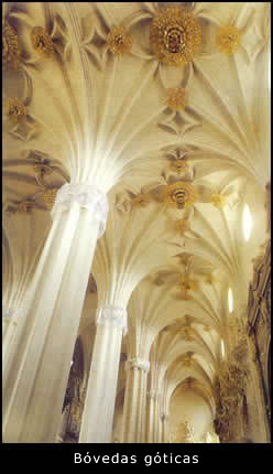 Bóvedas góticas de la Catedral Gótica-Mudejar de La Seo