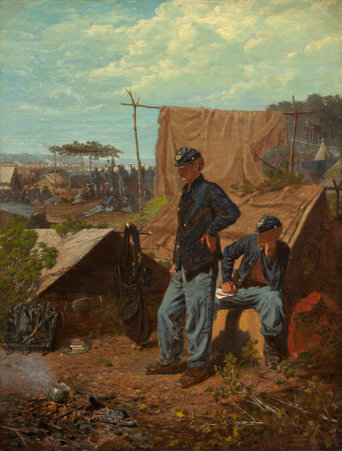 Winslow Homer (American, 1836 - 1910 ), Home, Sweet Home, c. 1863, oil on canvas, Patrons' Permanent Fund