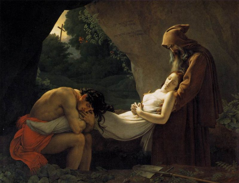Girodet: The Burial of Atala (The Funeral of Atala). 1813, Oil on canvas, Musée Girodet, Montargis